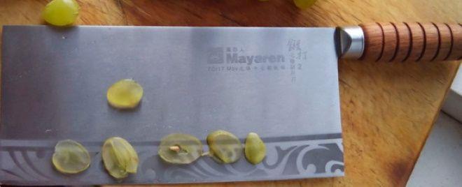 Кухонный нож Цай Дао нарезка винограда