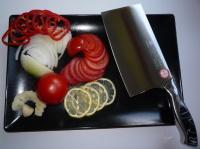 Кухонный нож цай дао в работе