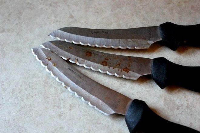 Ножи поражённые коррозией