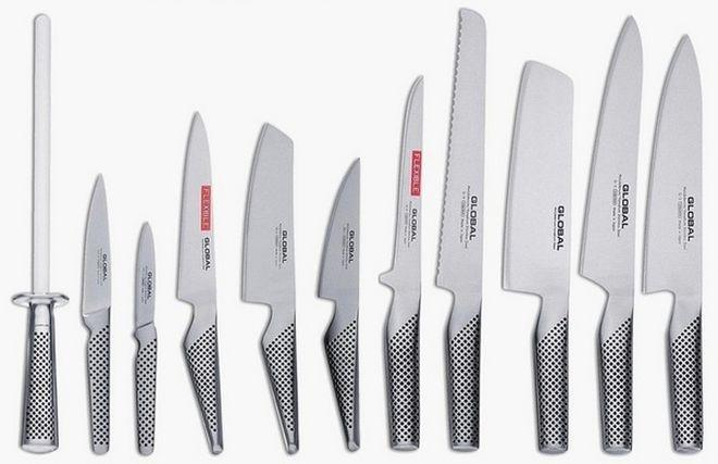 Красивый набор ножей для суши и роллов