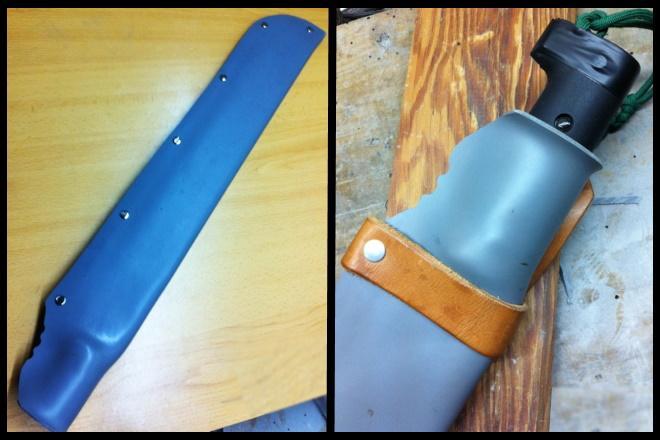 Ножны из пластиковой трубы с закрепом