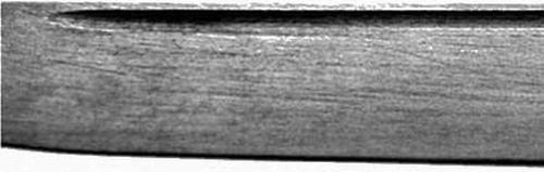 Отшлифованный участок ножа