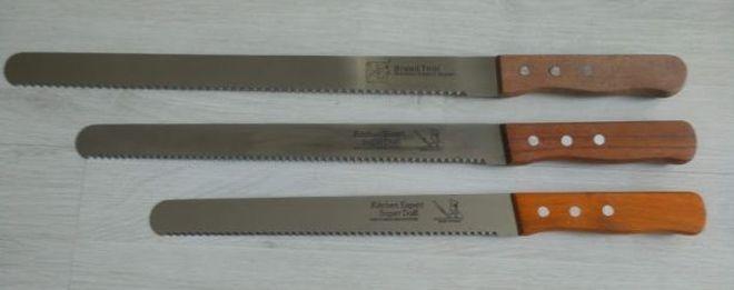 Ножи для реза хлеба с волнистой заточкой разной длины