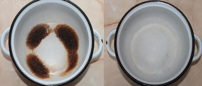 Как отмыть кастрюлю от пригоревшей каши