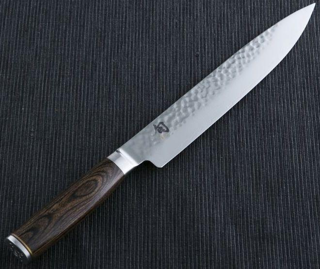 Японский обвалочный нож с ковочными бороздками