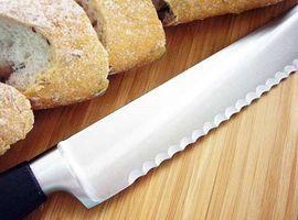 Длинный нож с серрейторной заточкой