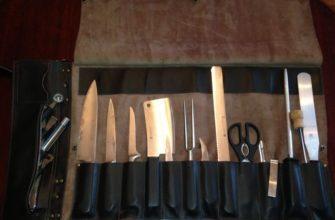 Скрутка для ножей с клинками внутри