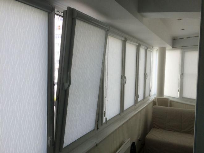Шторы на отдельные створки окна