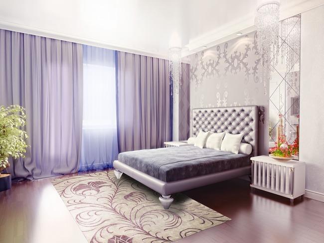 Фиолетовые шторы