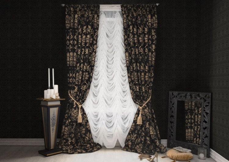 Тюль в стиле готика