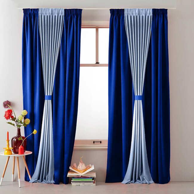 Сине-голубые шторы