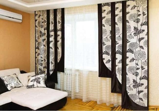 Японские шторы разной длины
