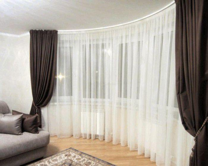 шторы в гостиную: фото.