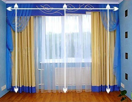 Пошив красивых штор в спальню: схемы и фотоидеи