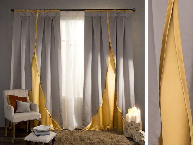 Комбинированные шторы.