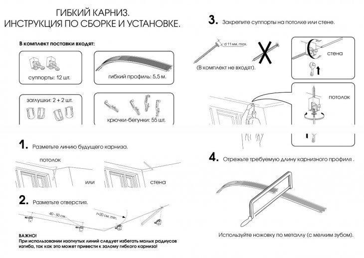 Карниз под натяжной потолок: 7 видов и способы их установки