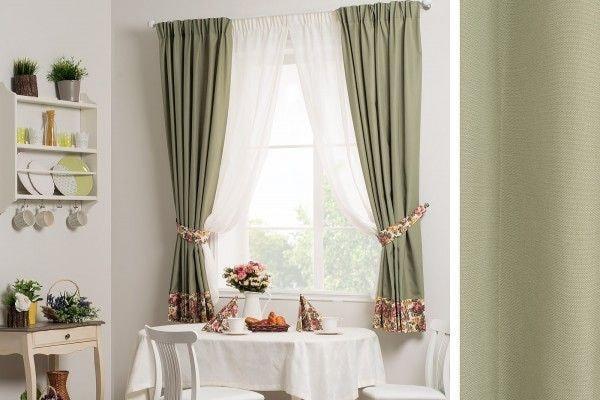 Оливковые шторы: на кухню и в гостиную - 30 сочетаний на фото