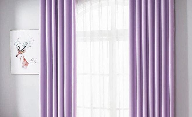 Светло-сиреневые шторы