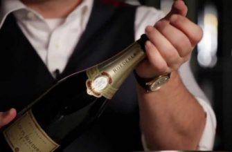 Открытие бутылки шампанского