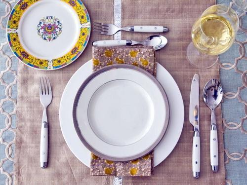 Раскладка тарелок