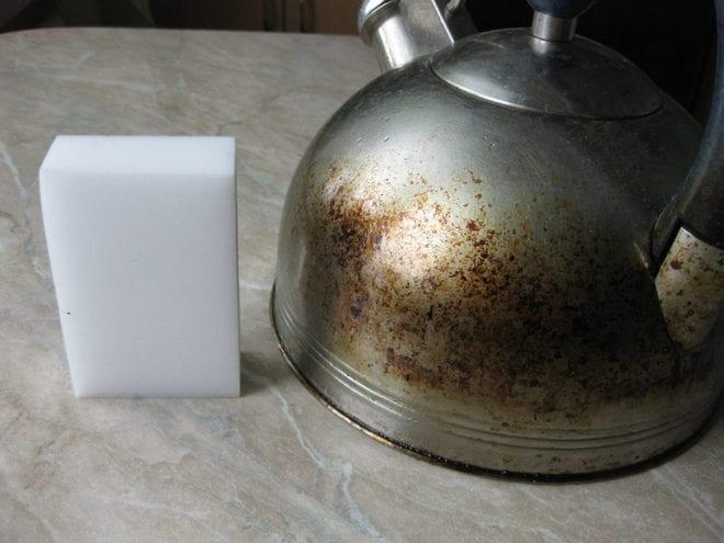 Очистка чайника снаружи