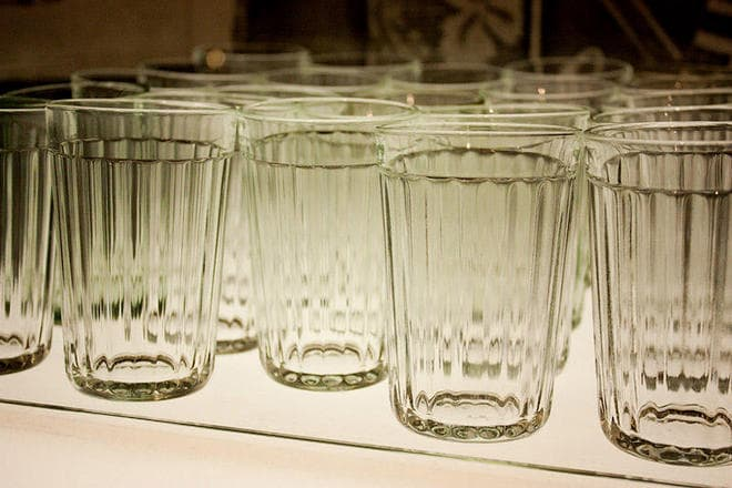 Граненые стаканы с ободком