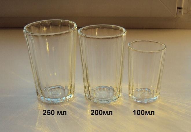 Виды граненых стаканов