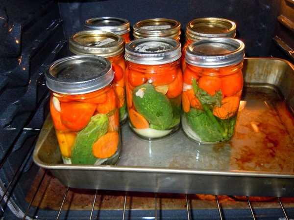 Стерилизация заготовок в духовке