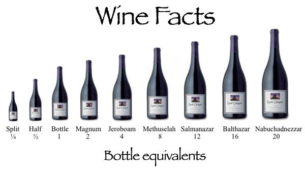 Какие существуют бутылки вина.
