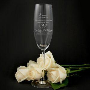 Как украсить бокалы на свадьбу.
