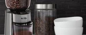 Размер емкости для зерна в кофемолке.