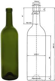 размер бутылки вина.