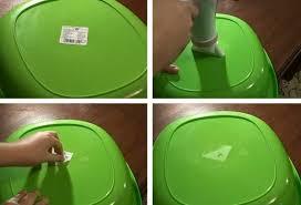 как очистить пластик от остатков клея.