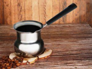 турка для кофе из нержавейки.
