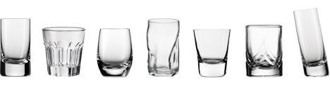 Объем стопки для водки из разных материалов