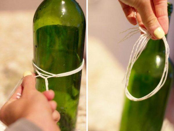 как разрезать бутылку.