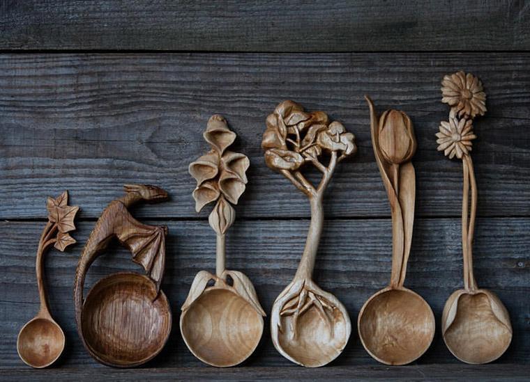 изготовление деревянной ложки.