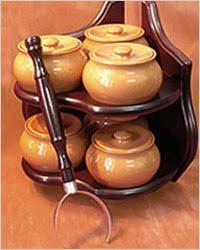 керамические горшки для плиты.