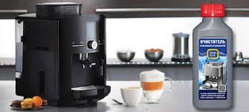 очистка кофемашины неспрессо специальными средствами.