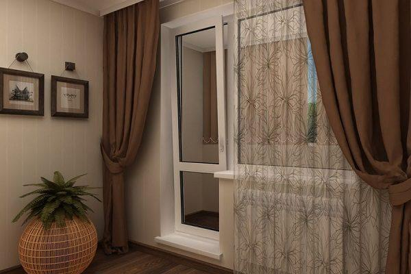 Шторы для кухни с балконной дверью: практичные и стильные идеи