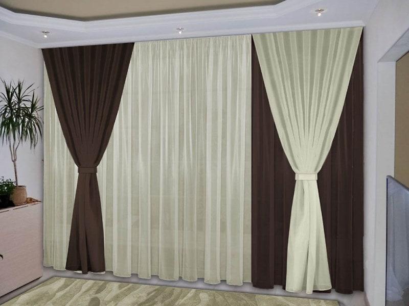 Шторы в дизайне интерьера комнат - оформление окон: 60+ фото идей