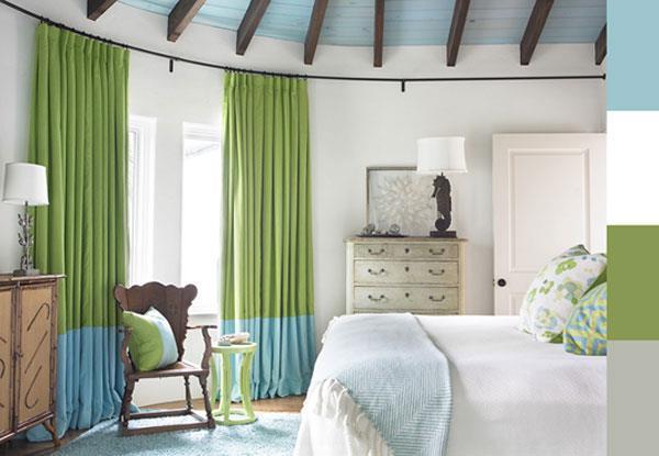 шторы в стиле Color block.
