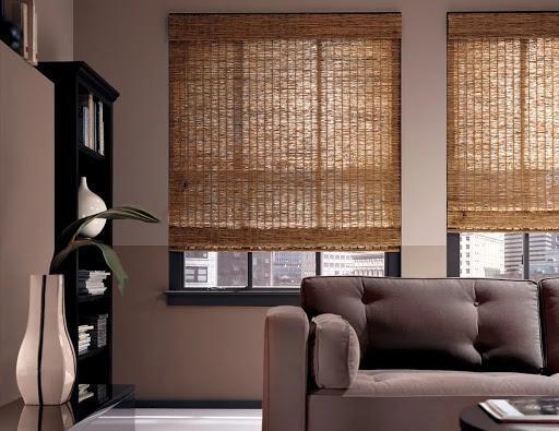 шторы в гостиную из бамбука.