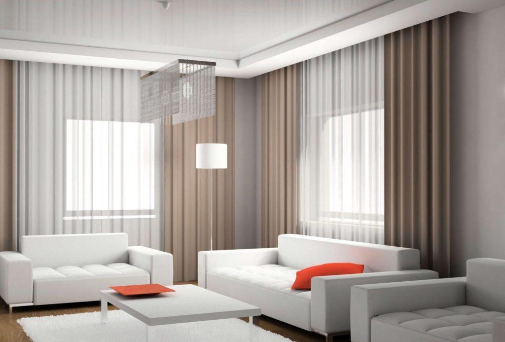 дизайн интерьера в гостиной.