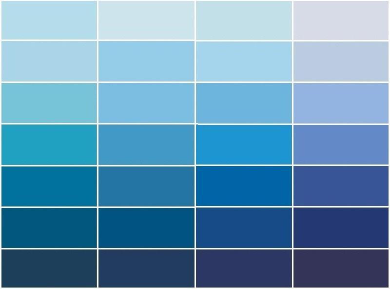 синие шторы оттенки.