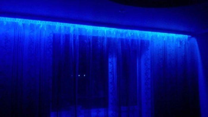 Светодиодная лента для штор.