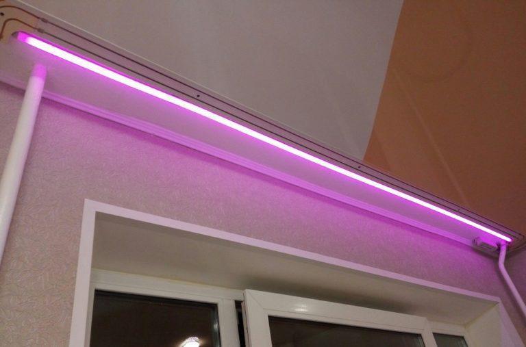 Светодиодная подсветка для штор своими руками: как сделать просто, быстро и безопасно