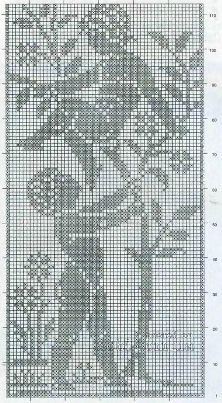 схема вязания штор ангелов.