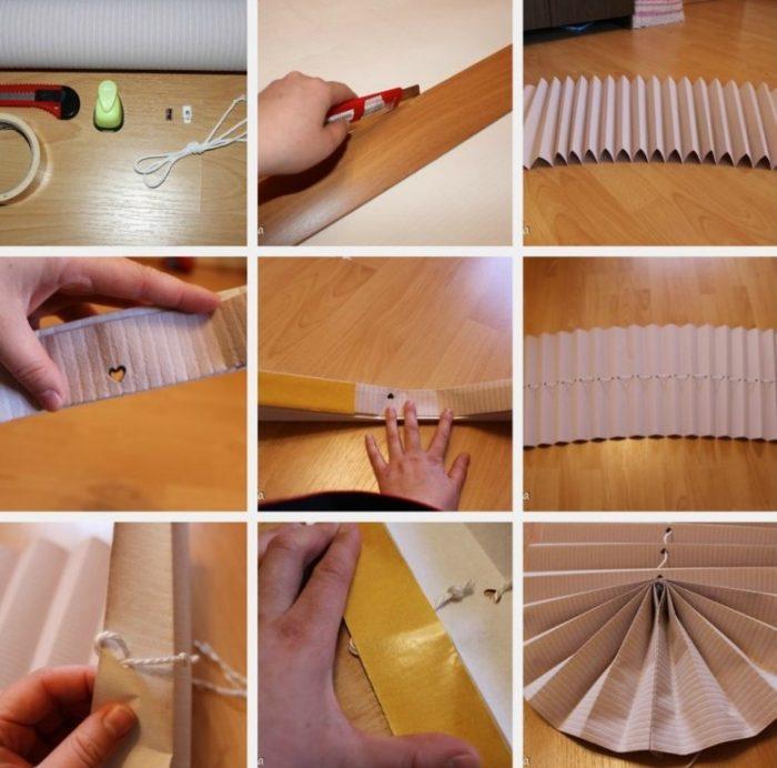 Изготовление жалюзи из бумаги.
