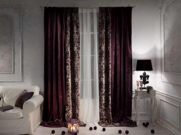Бархатные шторы в гостиную.
